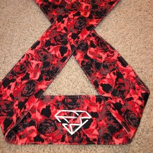 Red Rose Nike Tie Headband